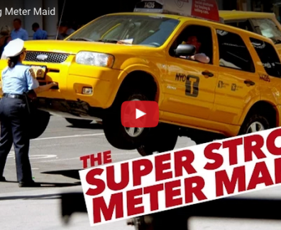 The Super Strong Meter Maid PR Stunt - Experiential Marketing for Professionals
