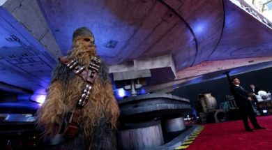 The Millennium Falcon brings Hollywood to a standstill